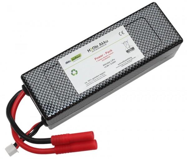 14,8V LiPo - Power - Akku mit einer Kapazität von 4000mAh für HighRate 35*C