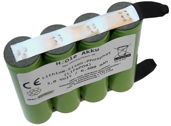 3 (3,3) Volt 6,4AH LiFePo4 H2OLE Akkumodul