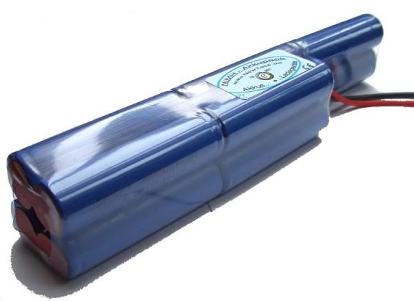 12 Volt NT 4/3 - 4500mAh AMP NiMH - Akkupack im Quadratformat für Tauchlampen 3i2i4q