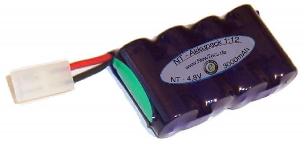 4,8 Volt Sub-C Omniakkupack, 3400mAh mit Tamiyastecker
