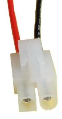Tamiya - Stecker (Metall ist Buchse) mit Kabel, fertig montiert