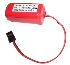 4,8V Empfänger Akku Pack 900mAh AAA für z.B. Graupner