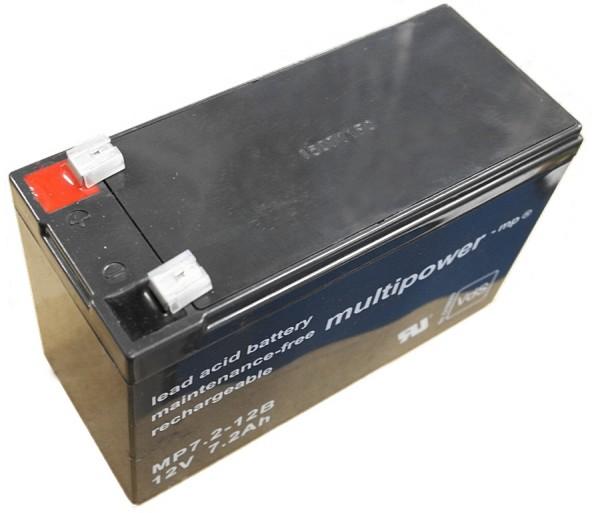 Multipower Blei-Akku MP7,2-12B Pb 12V / 7,2Ah