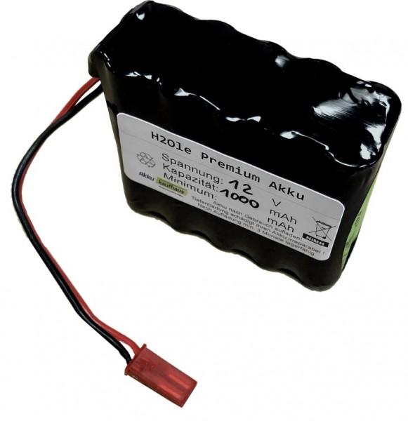 12V Micro Huckepackakku 900mAh High Rate Output 4n2p inkl. BEC - Stecker