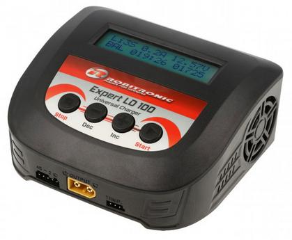 LCD-Ladegerät LD100 für LiFePo4-LiPo-LiIon-NiCd-NiMH-NiCd Akkus