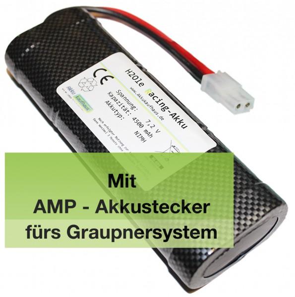 7,2V 2000mAh Graupnerakku NiMH R/C Racing Akku mit passender AMP-Buchse