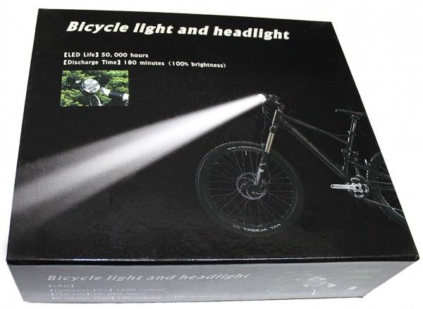 Fahrradlampe und Kopflampe EXTREM HELL inkl. Akku und Ladegerät