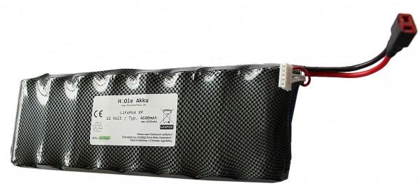 12V (13.2V) LiFePo4 XP - Akku 8n-4s2p 4600mAh inkl. Balancerkabel+UltraDeanbuchse
