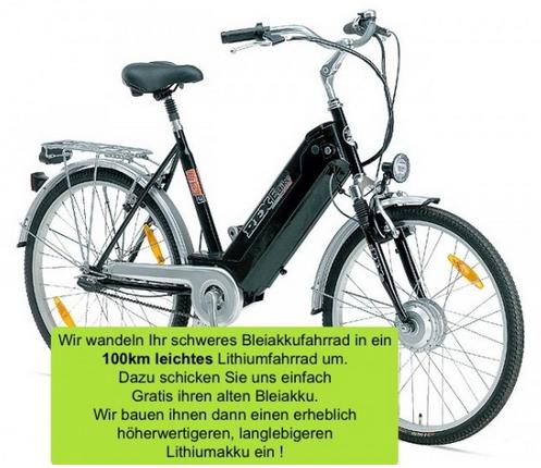 Rex E-Bike 36V / 10Ah Lithiumaufrüstung + Ladegerät( LiFe ) von alter Bleiakkutechnik