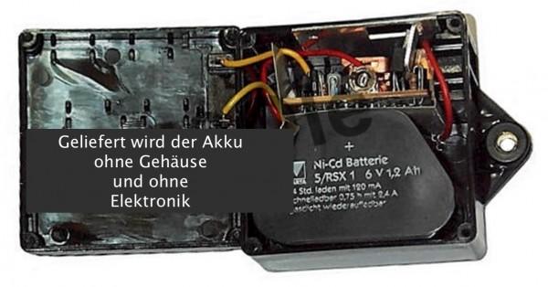 6V NiMH 3400mAh Akku für ULO EBL 801 mit Kabelschuhenden