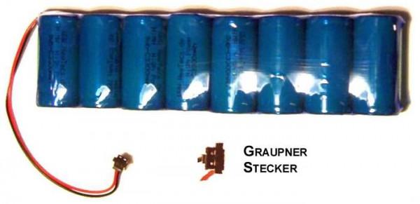 Senderakku 9,6V / 3400mAh NiMH mit Graupner Senderstecker H2Ole