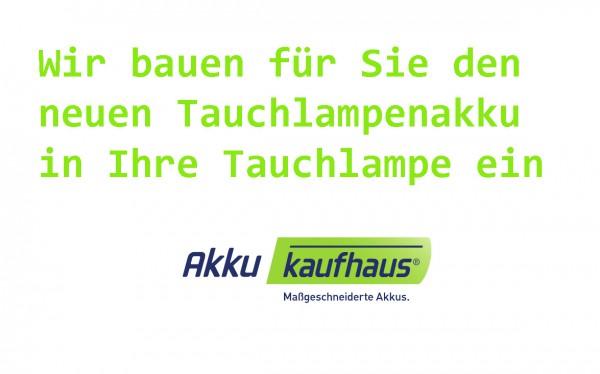 Akkupack Einbau in Ihre Tauchlampe alle Hersteller