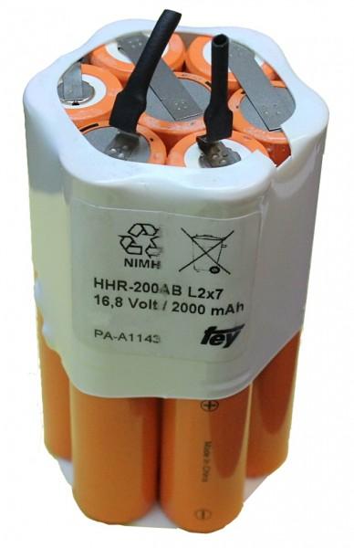 16,8V / 2000mAh NiMH Akku für Multitec Sunray inkl. angebautem Temperaturschalter