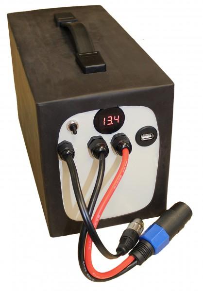 12V / 77AH Batterie Leichtgewicht in stabilem Alugehäuse LiFePo4 - Akku inkl. 50A BMS