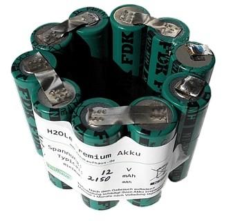 12 Volt NiMH Akku 2700mAh für Treble Light Mini 16.12c mit 6 Volt Brenner