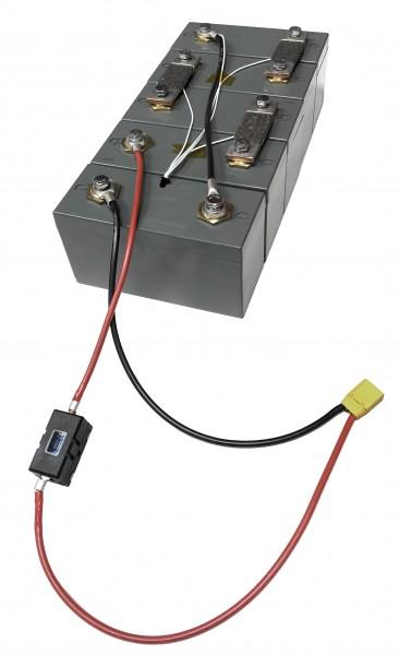 3 Volt / 50Ah LiFePo4 Solarspeicher-Akkumodul zum Selbstbau, mit 2 Modulverbindern und Schrauben