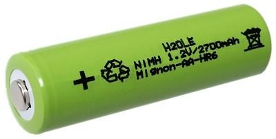 Mignonakku Typ AA 1,2 Volt 2700mAh NiMH Standardlänge Konsumerbatterie HR6 NH15 AM5