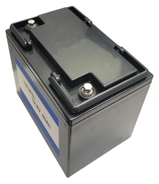 Lithium 12V / 40AH LiFePo4 - Akku inkl. 40A PCM + Ladegerät