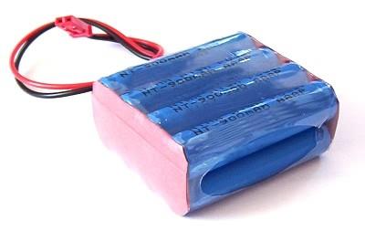 9,6V Micro Akkuhuckepack 900mAh High Rate Output 4n2p inkl. BEC - Stecker H2Ole