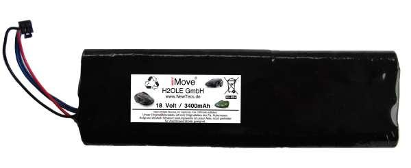 Akku für Elektrolux Trilobite NiMH 3400mAh