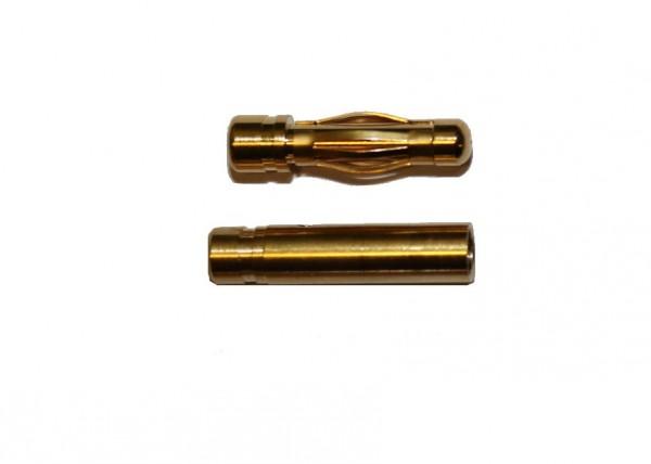 4mm Goldstecker und Goldbuchse (ein Paar)