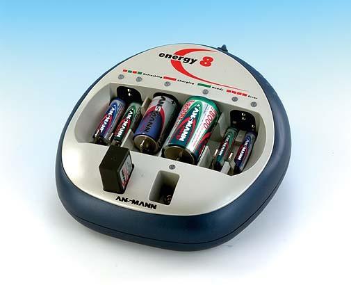 Ladegerät Ansmann Energy 8, zum zeitgleichen Laden von bis zu 8 Akkus