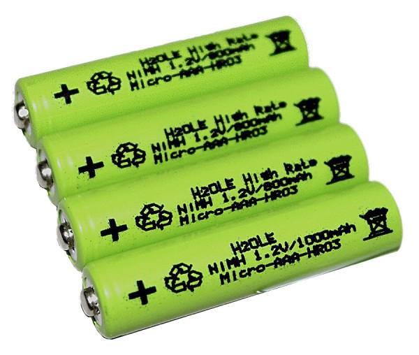 4 Stck. NiMH - Microakkus 800mAh AAA (Typ AAA) mit Nippel