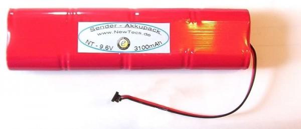 3400mAh NiMH mit Graupner Senderstecker H2Ole Senderakku 9,6V