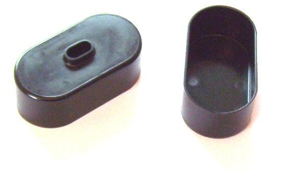 Ein Paar Endkappen für Sub-C Akkupacks in Inlineanordnung