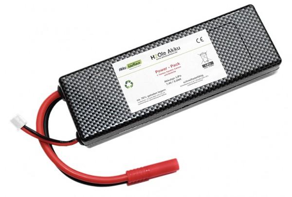 7,4V LiPo - Power - Akku mit einer Kapazität von 5000mAh 35*C HighRate