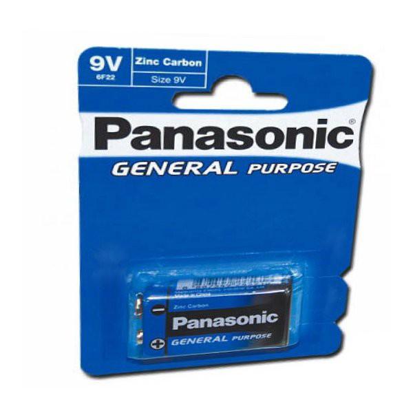 9V Panasonic General Purpose Block Batterie Zink Carbon
