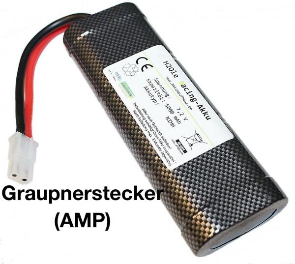 7,2V Racing Pack R/C Akkupack 5000mAh Qualitäts Akku Racing Graupner-AMP Stecker