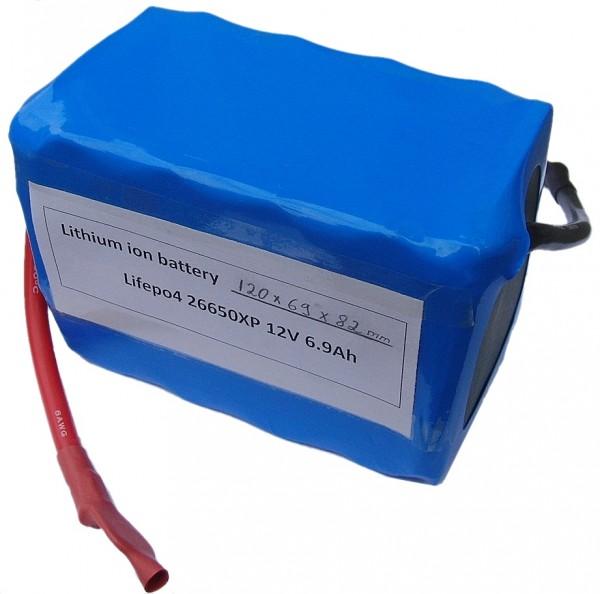 12V (13.2V) LiFePo4 - Akku mit einer Kapazität von 9AH (118Wh) für HighRate Anwendungen ohne Memory