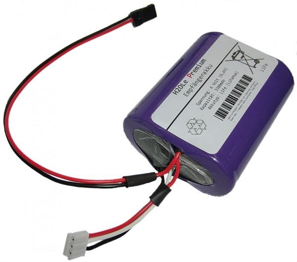 6 Volt (6.6V) LiFePo4 - Empfängerakku ( JR / XH ) mit einer Kapazität von 3300mAh