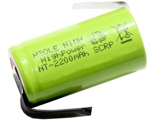 2200mAh NiMH Sub C Akku Sub-C mit Lötfahne H2Ole Subc b