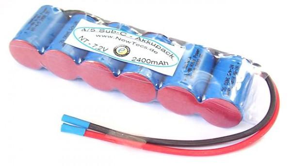 7,2 Volt 2500mAh 4/5 Sub-C NiMH Omniakkupack 6nlo H2Ole