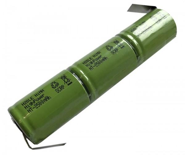 3,6 Volt 4/5 Sub-C 2500 NiMH Akku H2Ole Inlineakku