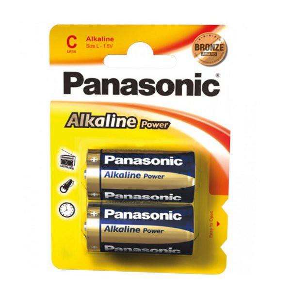 Panasonic Baby Typ C Batterie LR14 Alkaline Power