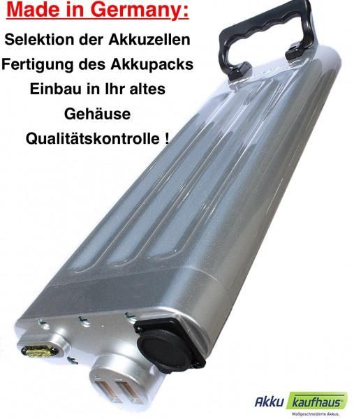 36V 10AH ebike LFP Akku Made in Germany (MiG) für Schachner silbernes Gehäuse inkl. Einbau in Ihr Ge