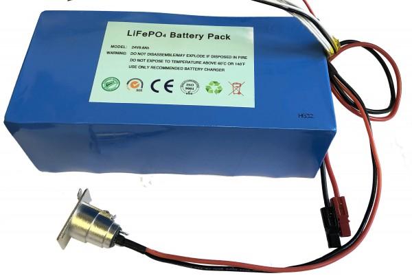 24V / 16AH / 400Wh Lithiumakku ( LiFe - LiFePo4 ) inkl. Ladegerät