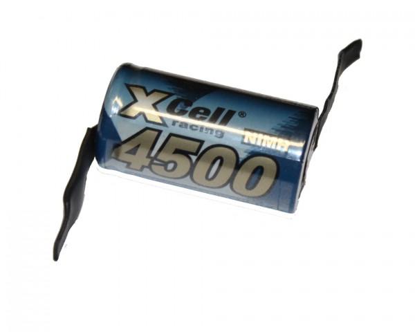 XCell 4500mAh Sub-C Ni-MH Akku mit Lötfahnen