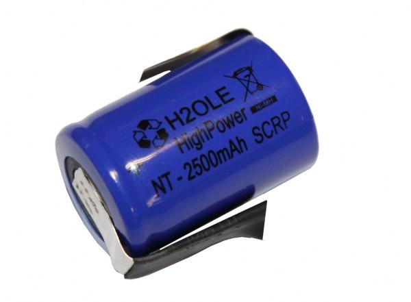 4/5 Sub-C 2500mAh NiMH Einzelzelle 1,2 Volt mit Lötfahnen b