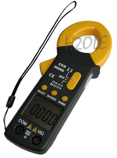 Zangenamperemeter zur berührungslosen Gleichstrommessung, Spannungsmessung, Temperaturmessung