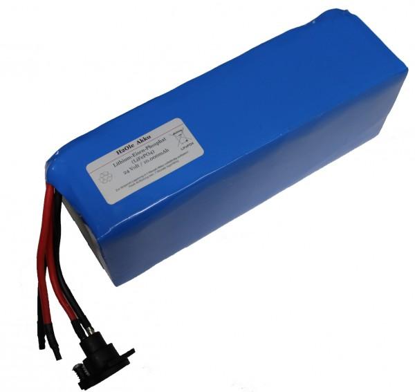 24V / 10AH Lithiumakku ( LiFe - LiFePo4 ) inkl. Ladegerät