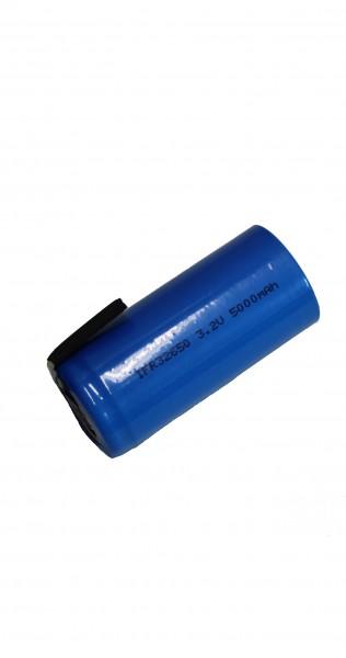 3 Volt (3,3V) 5AH 32650 LiFePo4 H2OLE Akku