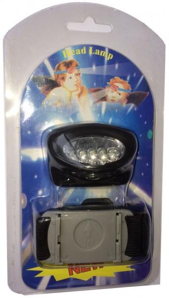 Kopflampe mit 5 superhellen Leds inkl. 3 Duracellalkalinebatterien