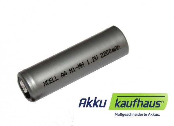X-Cell Mignon 1,2 Volt 2200mAh NiMH Industrieakku Flattop