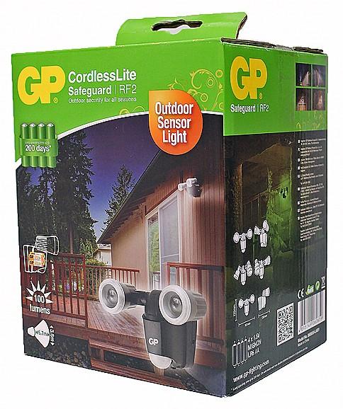 LED Außenleuchte mit Bewegungsmelder - GP Cordless Lite - Safeguard RF2