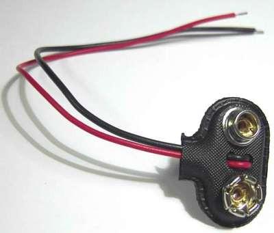 Batterieclips für z.B. 9 Volt Blockbatterieanschlüsse