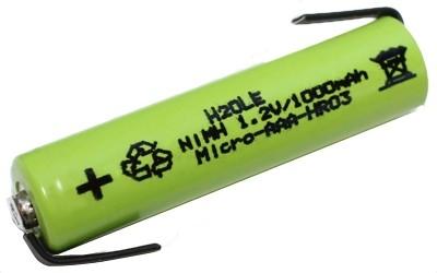 NiMH - Microakku 1000mAh AAA (Typ AAA) mit Anschlußfahnen